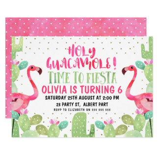 Watercolor-Flamingo-Geburtstags-Party Einladung