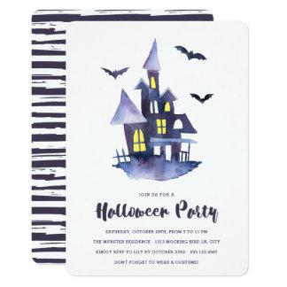 Watercolor-gespenstische 12,7 X 17,8 Cm Einladungskarte