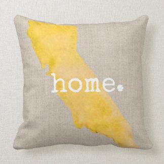 Watercolor-Kalifornien-Zuhause  Throw-Kissen Kissen