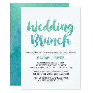 Watercolor-Kalligraphie-Hochzeit in 12,7 X 17,8 Cm Einladungskarte