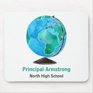 Watercolor-Kugel-personalisierter Schulvorsteher Mauspads