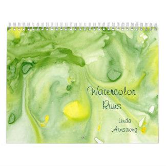 """Watercolor lässt"" abstrakten feine Kunst-Kalender Wandkalender"