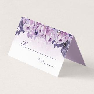 Watercolor-lila elegante Hochzeits-mit Platzkarte