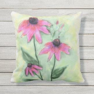Watercolor-lila Kegel-Blumen-Kissen im Freien Kissen