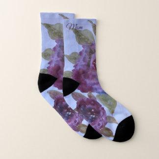 Watercolor-lila Rosen-Socken für Mamma Socken