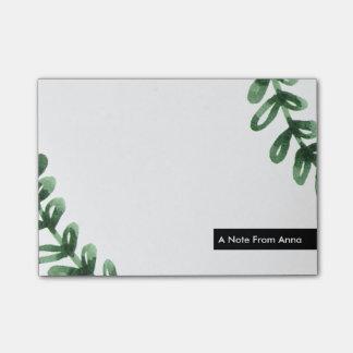 Watercolor-LorbeerWreath personalisiert Post-it Klebezettel