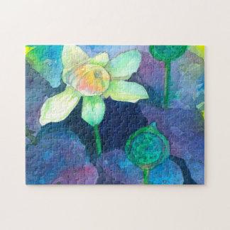 Watercolor-Lotos-Blume