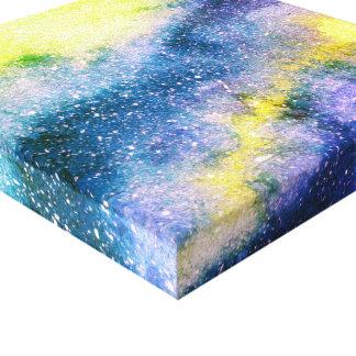 Watercolor-Malerei-Galaxie-Leinwand-Druck Leinwanddruck