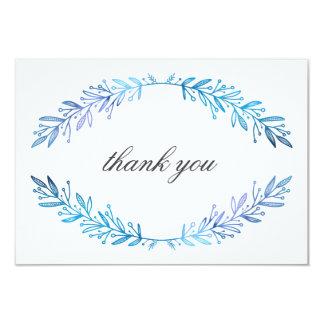 Watercolor-Mit Blumenblaue u. Lila danken Ihnen Karte