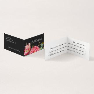 Watercolor-Mohnblumen-Blumen-Geschenk-Zertifikat Visitenkarten