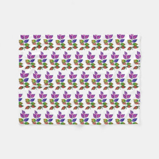Watercolor-Regenbogen-Blätter Fleecedecke