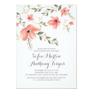 Watercolor-romantisches Verlobungs-mit BlumenParty 12,7 X 17,8 Cm Einladungskarte
