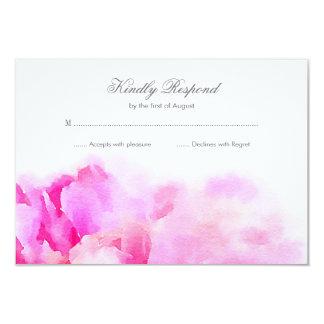 Watercolor-rosa Pfingstrosen-Blumenhochzeit UAWG 8,9 X 12,7 Cm Einladungskarte