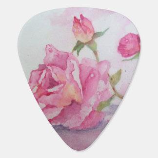 Watercolor-rosa Rose Plektron