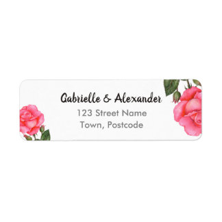 Watercolor-rosa Rosen-botanische