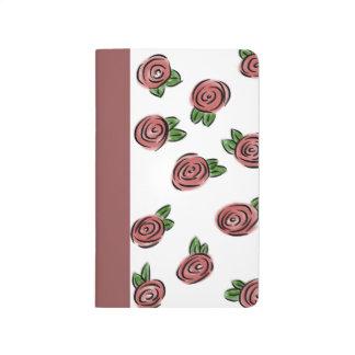Watercolor-Rose Tagebuch