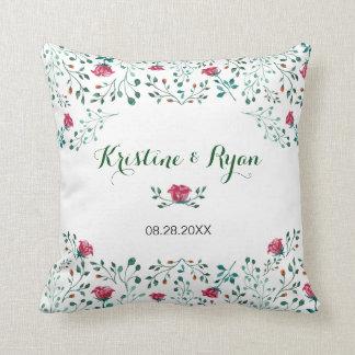 Watercolor-Rosen-Garten Kissen