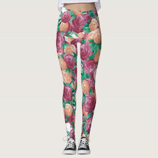 Watercolor-Rosen Leggings