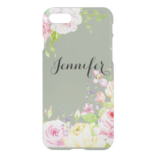Watercolor-Rosen personalisierter iPhone 7 Fall iPhone 7 Hülle