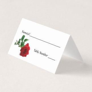 Watercolor-Rote Rose - Eskorte-Karten Platzkarte
