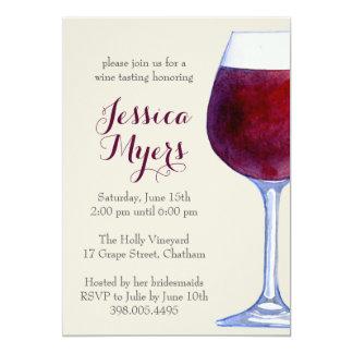 Watercolor-Rotwein-Party Einladung