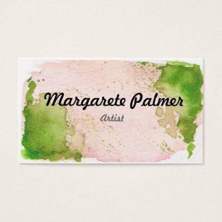 Watercolor Splat Buisness Card - Green Visitenkarte