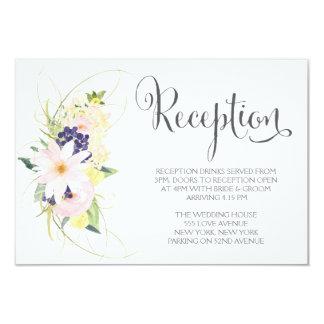 Watercolor Spring Floral Wedding Reception Cards 8,9 X 12,7 Cm Einladungskarte