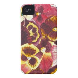 Watercolor-Stiefmütterchen iPhone 4 Case-Mate Hülle