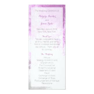 Watercolor-Strudel-Hochzeits-Programm lila 10,2 X 23,5 Cm Einladungskarte