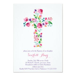 Watercolor Taufeinladungen, rosa Lila 12,7 X 17,8 Cm Einladungskarte