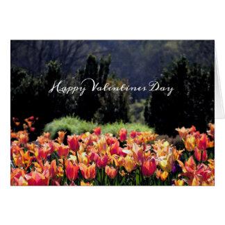 Watercolor-Tulpen für Valentinstag Karte