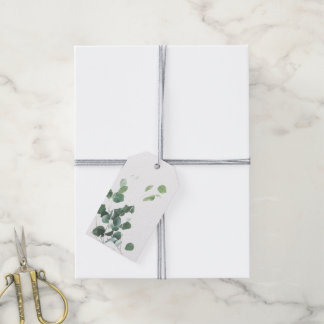 Watercolor verlässt Gastgeschenk Hochzeitsumbau Geschenkanhänger