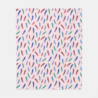 Watercolor versieht mittlere Fleece-Decke mit Fleecedecke