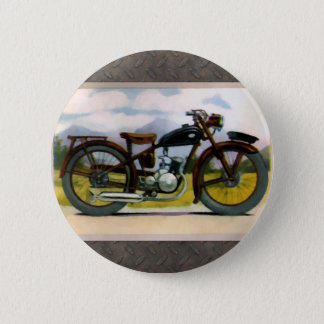 Watercolor-Vintages Motorrad Runder Button 5,7 Cm