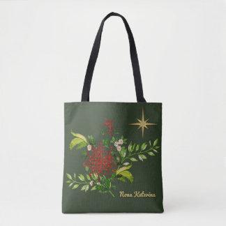 Watercolor-Weihnachtsgänseblümchen personalisiert Tasche