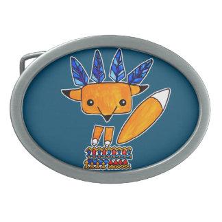 Watercolorillustration niedlicher Fox. Nettes Tier Ovale Gürtelschnallen