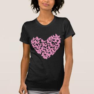 Watercolorschmetterlingsherzrosa-Liebet-shirt T-Shirt