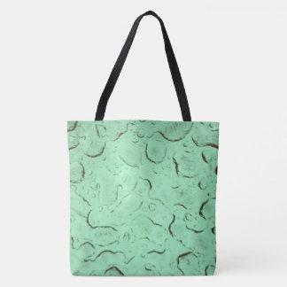 Waterdrops Frühling im Grün Tasche