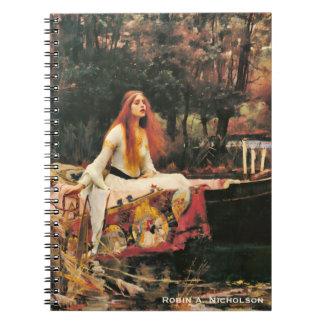 Waterhouse-Dame von Shalott personalisiert Spiral Notizblock