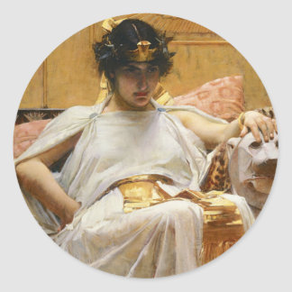 Waterhouse-Kleopatra-Aufkleber Runder Aufkleber