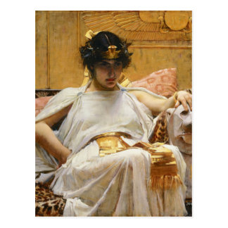 Waterhouse-Kleopatra-Postkarte Postkarte