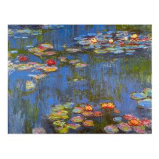 Waterlillies durch Claude Monet Postkarte