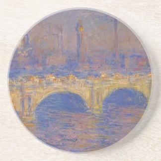Waterloo-Brücke, Sonnenlicht-Effekt durch Claude Sandstein Untersetzer