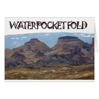 Waterpocket Falte, Utah Grußkarte