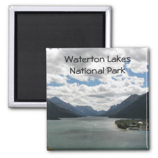 Waterton See-Reise-Foto Quadratischer Magnet