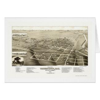 Watertown, panoramische Karte Sd - 1883