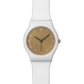 Wath mit goldenem Hintergrund Uhr