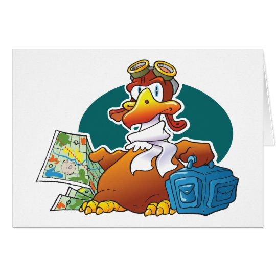 Watscheln von Eagle Grußkarte