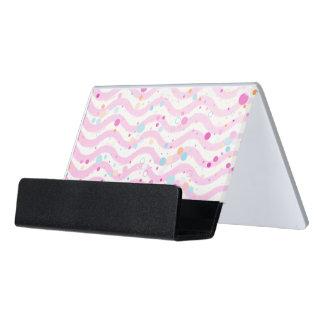 Waves2 - SchreibtischKartenhalter Schreibtisch-Visitenkartenhalter