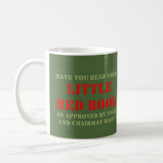 WDYHC No8, wenig rotes Buch Kaffeetasse